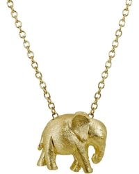 Alexander Jewell - Baby Elephant Pendant - Lyst