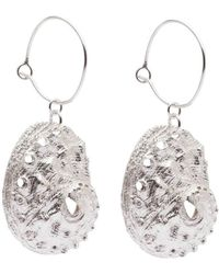 Susan Driver - Sterling Silver Oceania Abalone Hoops - Lyst