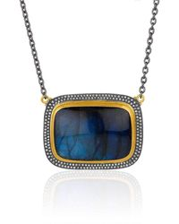 """Lika Behar Collection - Gold And Oxidised Silver Larger """"nightfall"""" Necklace - Lyst"""