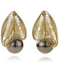 AMMA Jewelry   Filigree Earrings Black Butterfly   Lyst