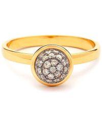 Syna - 18kt Mini Champagne Diamond Ring - Lyst