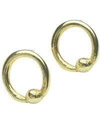 Naomi Tracz Jewellery - 18kt Yellow Gold Round Orb Studs - Lyst