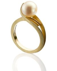 Karen Phillips - Gatsby Yellow Gold Pearl Ring - Lyst