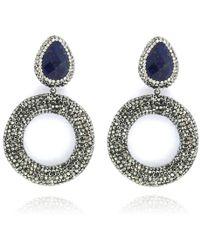 Cosanuova - Sapphire Drop Earrings - Lyst
