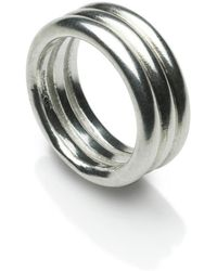 Naomi Tracz Jewellery - Three Band Ring Silver - Lyst