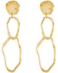 Deborah Blyth Jewellery Wave Stud Earrings fBmxn1R3