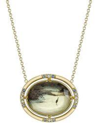 Spencer Fine Jewelry - Heron Landscape Spencer Portrait Necklace - Lyst