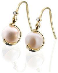 Karen Phillips - Yellow Gold Gatsby Earrings - Lyst