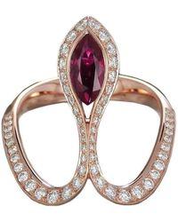 Baenteli - Rose Gold & Ruby Royale Ring   - Lyst