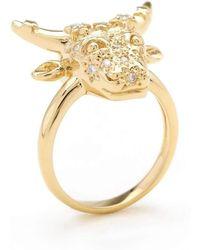 Matina Amanita   Taurus Ring   Lyst