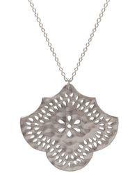 Murkani Jewellery - Sterling Silver Flower Pendant Necklace | - Lyst
