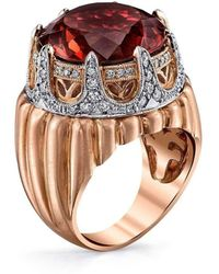 """Dallas Prince Designs - Royal Crown Ring With """"merlot Tourmaline"""" - Lyst"""