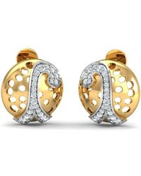 Diamoire Jewels Oval Sapphire and Diamond Ribbon Earrings in 18kt Gold oWyQn