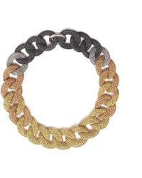 Tove Rygg - Goddess Coloured Link Twist Mixed 18kt Gold Necklace - Lyst