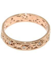 Custom Made By Irina - Rose Gold Leaves And Vines Ring - Lyst