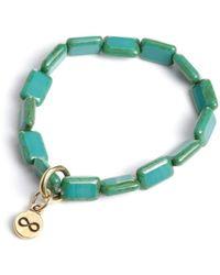 Eva Michele - Turquoise Infinity Bracelet - Lyst