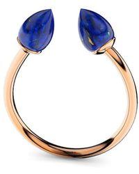 MARCELLO RICCIO - Rose Gold Plated Silver & Lapis Lazuli Ring - Lyst