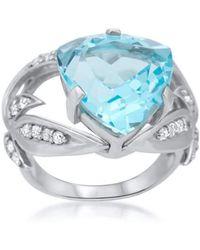 Drukker Designs - Sterling Silver Blue Topaz Ring - Lyst