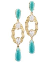 Chavin Couture - 18kt Yellow Gold Earring With Amazonite - Lyst