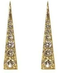Daou Jewellery - Spark Earrings - Champagne Diamond - Lyst
