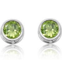 Designs by JAK - Susanne Peridot Stud Earrings - Lyst