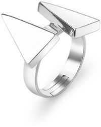 SOLUNA - Sterling Silver Sun Triangle Ray Ring - Lyst