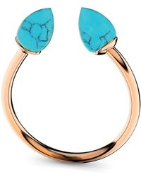 MARCELLO RICCIO - Rose Gold & Turquoise Ring - Lyst