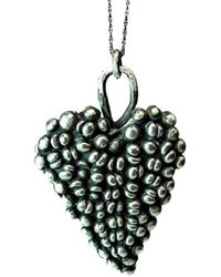 Private Opening - Large Gothic Shiny Sterling Silver Heart Pendant - Lyst