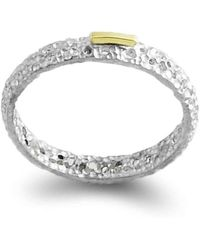 Agneta Bugyte | Classical Sterling Silver And Gold Ring With Single Accent | Lyst