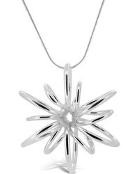 Maree London - Silver Small Lotus Necklace - Lyst