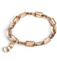 Eva Michele - Pale Amethyst Infinity Bracelet - Lyst
