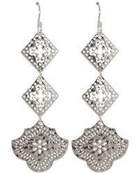Murkani Jewellery - Sterling Silver Goddess Hanging Earrings - Lyst