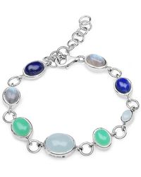 Olivia Leone - Rhodium Plated Silver Multi-colour Party Bracelet Silver - Lyst