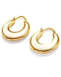 Syna - 18kt White Agate Earrings - Lyst