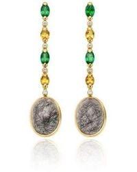 Niquesa Fine Jewellery - Venice Bauta Black Rutile Quartz Earrings - Lyst