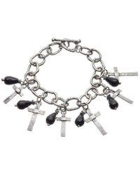Kate Chell Jewellery | Black Treasure Oxidised Bracelet | Lyst