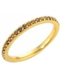 Susan Wheeler Design - Yellow Gold Autumn Diamond Half Eternity Band - Lyst
