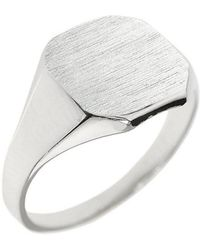 QP Jewellers - Corner Signet Ring In Sterling Silver - Lyst