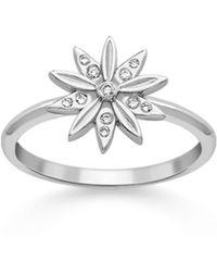 London Road Jewellery - Portobello White Gold Diamond Velvet Leaf Cluster Ring - Lyst