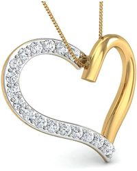Diamoire Jewels Hand-carved Heart in 10kt Yellow Gold and Premium Diamonds 4ruPS00L62
