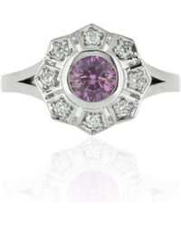 Flawless Jewellery | Estella Pink Sapphire Ring | Lyst