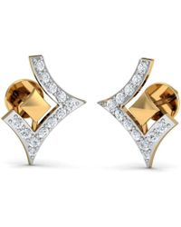 Diamoire Jewels - Clinquant Cut Pave Diamond Earrings In 18kt Yellow Gold - Lyst