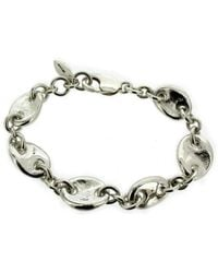 Will Bishop Sterling Silver Chunky Link Bracelet WgyuBDfbS