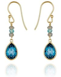 Perle de Lune - Precious Drop Earrings 18kt Gold - Lyst