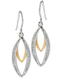 Fiorelli - Gold Plated Double Marquise Earring - Lyst