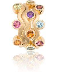 Biiju - Rainbow Egg Box Ring Trio - Lyst