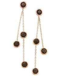 London Road Jewellery   Pimlico Rose Gold Smoky Quartz Drop Raindrop Earrings   Lyst