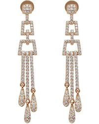 Lustre of London - Rose Deco Chandelier Earrings - Lyst