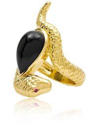 Alexandra Alberta - Arizona Black Onyx Ring - Lyst