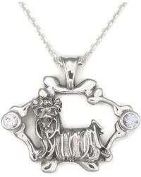 Donna Pizarro Designs Sterling Silver And White Sapphire West Highland White Terrier Westie Pendant Rdxo2WGs